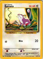 1999 Vintage Basic Pokemon Rattata Common 61/102 30 HP Single Card Colorless #19