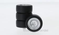 Zubehör Räderset  4x Tuning Leichtmetallfelgen silber 1980  1:18 NEO 18310 *NEW*