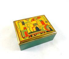 ORIGINAL GERMAN BAUHAUS AVANTGARDE ART DECO BOX 1925 JEWELRY CASE FUTURISM