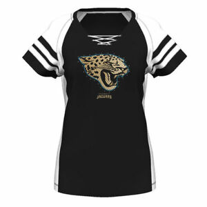 Jacksonville JAGUARS Women's Draft Me Lace-Up Top T-Shirt Majestic NWT 50% off!