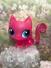 Littlest Pet Shop Crystal Clear Collection Pink 3152 Cat Translucent