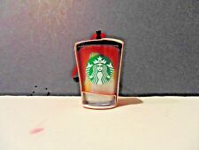 Starbucks 2018 Multi Color Glitter Wave Cold Cup Ornament Holiday Christmas New