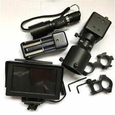 Day Night Use Rifle Scope Add On DIY Night Vision Scope w LCD Monitor IR Torch