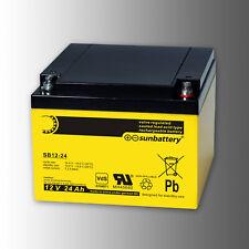 "SUN Battery Blei Vlies Akku SB12-24 12V 24Ah ""VdS"""