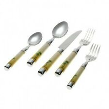 Cambridge Palm Tree 20 Piece Dinnerware Flatware Set Complete Fast Ship NEW