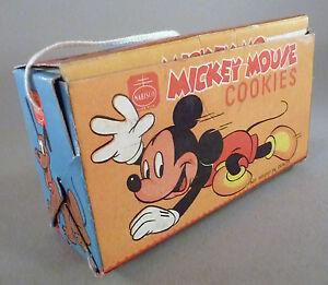 Mickey Mouse Cookies Box - circa 1940 ~~ cookie ~~ high grade