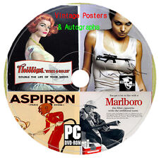 17 000 Vintage Classic Old Movie Posters & Autographs Images CD Craft Decoupage