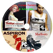 17 000 vintage classic vieux film posters & AUTOGRAPHES images CD bateaux découpage