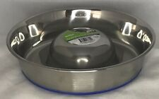 Slow Feed Pet Dog Bowl Stainless Steel Large Non Skid 5 Cup New