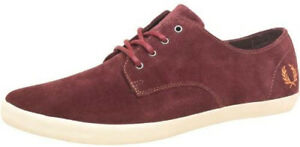 BNWT Men's FRED PERRY 'Foxx' Port Burgundy Red Suede Shoes (Size 9) RRP $190