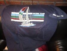 Vintage 1983 MACKINAC ISLAND MI Saling Race Blue T Shirt XL Velva Sheen 50% 50%