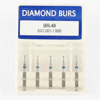 50*Dental Diamond Ball Round burs Medium FG 1.6mm for High Speed Handpiece BR-49