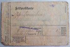 WWI B/W Postcard. FELDPOSTKARTE (auf Deutsch). Soldat Brunstein. Regiment 85