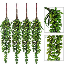 4pcs Artificial Hanging Plants Fake Succulents Wall Hanging Basketplant Decor