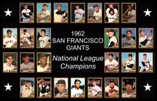 SAN FRANCISCO GIANTS 1962 World Series Vintage Baseball Card Custom Poster Decor