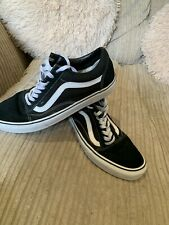 Vans Trainers Size 9 Very good Condition Genuine Black Canvas