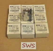 *NEW LOT OF 9* Cutler-Hammer D7PR4A Series A2 Relay 4PDT 120VAC Coil