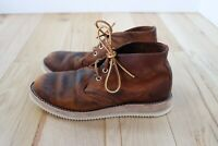 CUSTOM Red Wing Heritage #3137 Copper Rough & Tough Leather Work Chukka Sz 8D