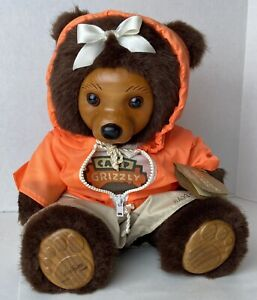 Vintage 1990 Robert Raikes Hillary Bear Camp Grizzly Collection Signed