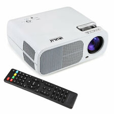 110W HD 1080P Home Cinema Theater LED LCD 3D Projector HDMI White