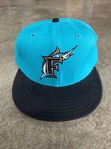 Vintage New Era Miami Marlins Hat. Pro Model Size 7 1/8 ~ USA Made ~ Florida MLB