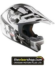 "LS2 ""Stripe"" MX433 Motocross MX Motorcycle Helmet - Black/White - XL 62cm"
