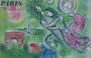 Marc Chagall HAND SIGNED ! Opera Garnier Paris Romeo & Juliet 1964 framed Poster