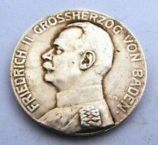 German Imperial Silver Medal .Baden . Friedrich Ii .