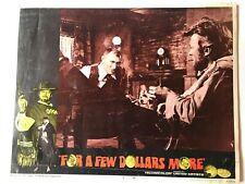 For A Few Dollars More Original 1967 Lobby Card 14 x10