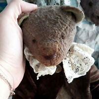 Artist teddy bear Georgy. Handmade teddy bear in clothes. OOAK art doll