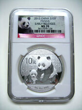 2012 China Panda S10Y 1oz Silver NGC MS70 Early Releases NO MILK - VERY NICE#124
