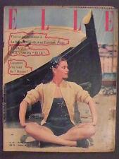 She nº 351/18 August 1952 horoscope of Elizabeth II and Antoine pinay.