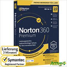 NORTON 360 Premium 2020 10 Geräte |PC,Mac,Android,iOS| Internet Security DE-Liz