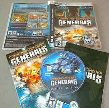 COMMAND AND & CONQUER GENERALS DELUXE edition for APPLE MAC   VGC