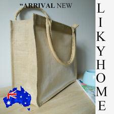 New JuteBags Reusable Shopping Shoulder Bag Natural Color Cover Eco Friendly AU