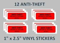 12 Anti Theft Stickers Candy Machine Labels vending vendstar