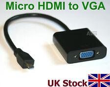 MICRO HDMI to VGA SVGA Adapter Converter Cable  HDMI 2 VGA  supports 1080p  - UK