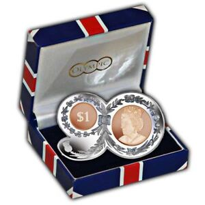 """BVI 2016 Queens 90th Birthday """"90"""" Shaped Nickel-Silver and Bronze Coin"""