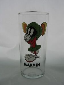 MARVIN THE MARTIAN Glass 1998 WARNER BROTHERS - Made in U.S.A. - NEW