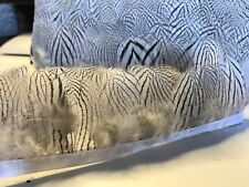 Silver Pheasant Feather Fringe Ribbon Trim (price for 30cm) DIY Craft Sewing