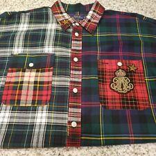 New Men Ralph Lauren Shirt Boyfriend Fit Long/S XLarge MUlti-Color Rare $198