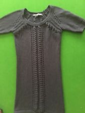 Navy Crochet knitted dress Fench Connection, size 6. Stunning on. Would fit s8