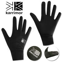 Mens Womens Liner Gloves KARRIMOR Touch Screen Running Sports Thinsulate Ladies
