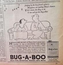 1935 Bug-a-boo Insecticide Poem Original Ad