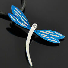 Fashion blue Stainless Steel Dragonfly Pendant Necklace