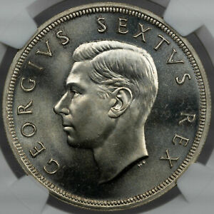 1952 SOUTH AFRICA 5 SHILLINGS SILVER NGC PF66 BU UNC PROOF