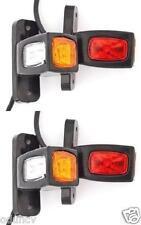 4x 24V Red White Orange Side Outline Rear Marker LED Lights Lamps Truck Chassis