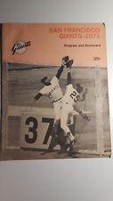 San Francisco Giants 1971 Program And Scorecard