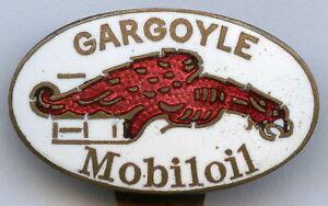 Vintage Car Mobiloil GARGOYLE 1920s Buttonhole Advertising Enamel Badge RARE !!!