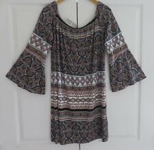 GEORGE MULTI COLOURED ABSTRACT PRINT CASUAL SUMMER TUNIC KAFTAN TOP SIZE UK 20